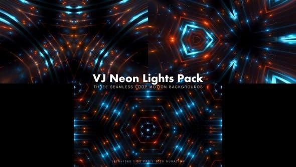 Thumbnail for VJ Neon Lights Pack 2