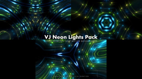 Thumbnail for VJ Neon Lights Pack