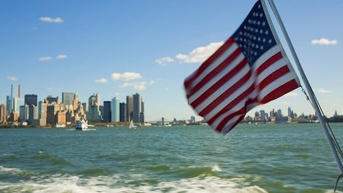 US Flag and New York