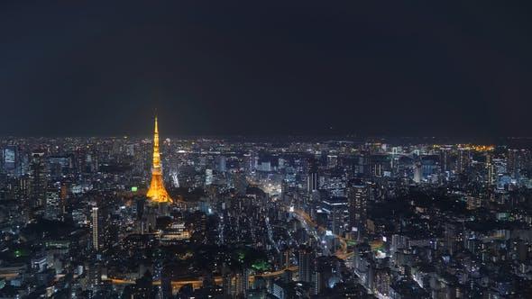 Thumbnail for Tokyo Night Skyline Timelapse