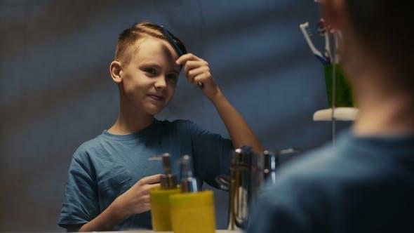 Stylish Boy Singing and Doing Hairstyle