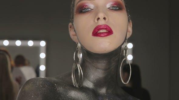 Thumbnail for Fashion Art Porträt von Schöne Vogue Stil Mädchen