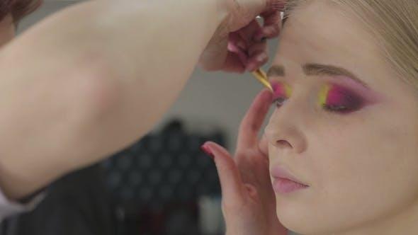 Thumbnail for Makeup Artist Makes Art Makeup Models