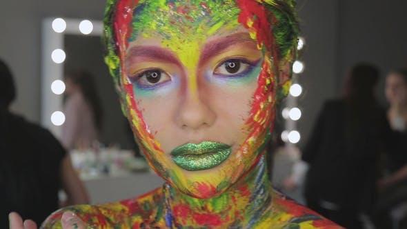Thumbnail for Girl Art Makeup Watercolor
