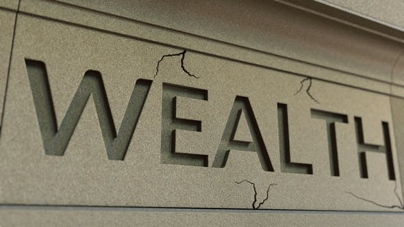 Thumbnail for Cracking WEALTH Word on the Stone Facade