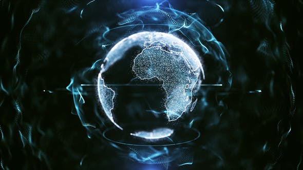 Thumbnail for Blue Technological Modern Earth Particle Background