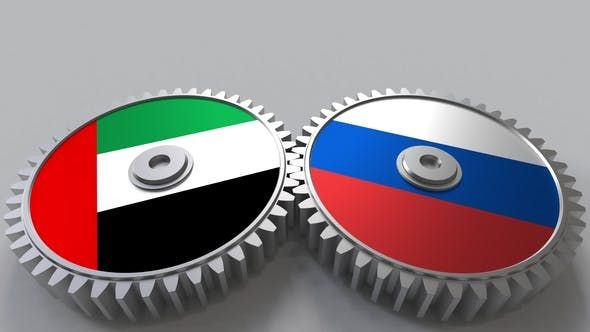 Thumbnail for Flags of the UAE and Russia on Meshing Gears