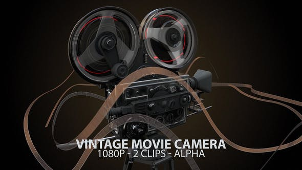 Thumbnail for Vintage Movie Camera With Widening Shutter