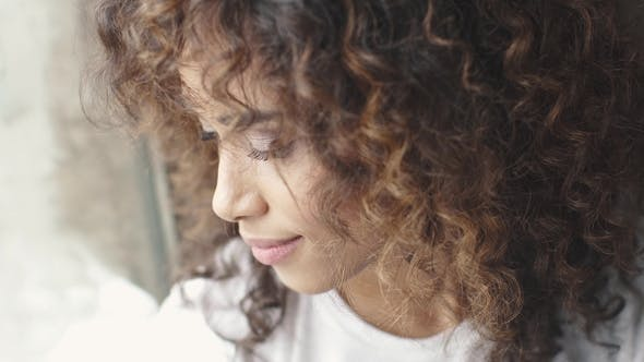 Thumbnail for Headshot Portrait of a Attractive Hispanic Girl with a Beautiful Smile. Girl with Brown Eyes and