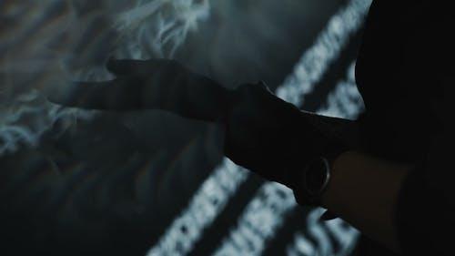 Tattooist Wearing Black Gloves