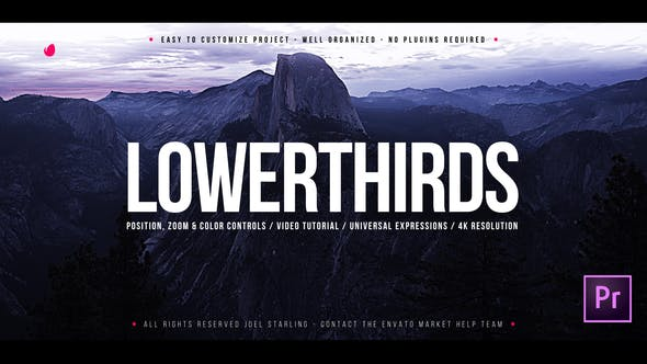 Cover Image for Elegant Lower Thirds for Premiere