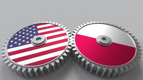 Thumbnail for Flags of the USA and Poland on Meshing Gears