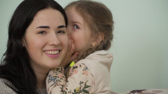 Thumbnail for Mother and Little Daughter Trust Their Secrets To Each Other
