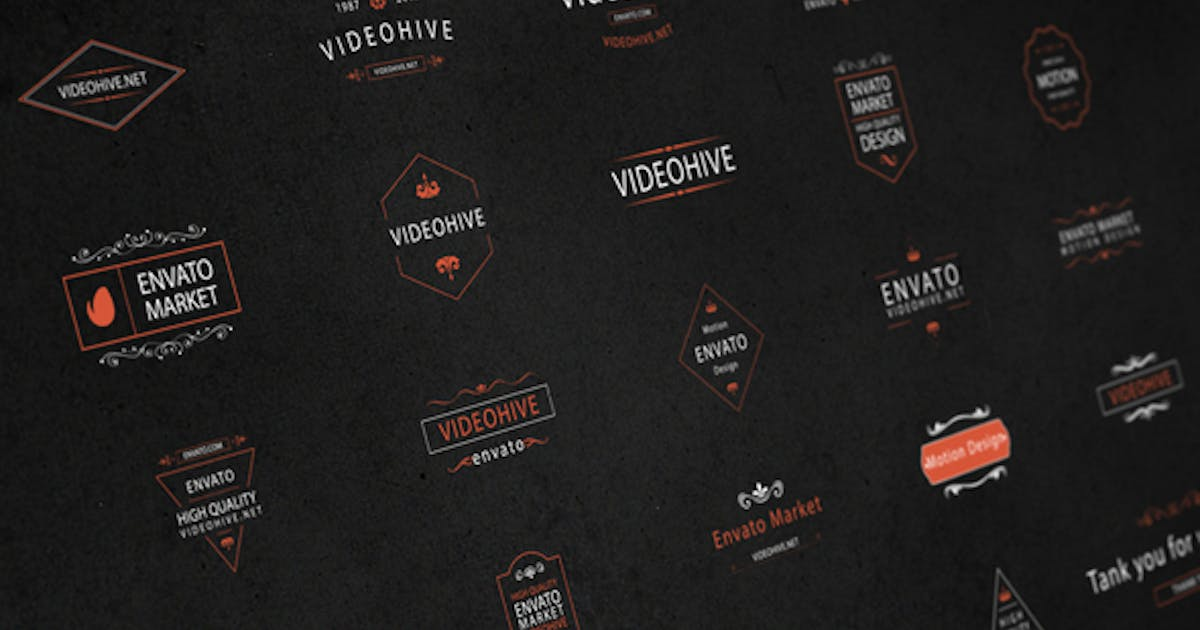Download 25 Animated Titles & Badges & labels by George_Fx