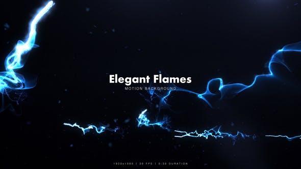 Elegant Blue Flames
