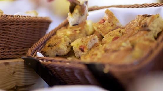 Thumbnail for Freshly Baked Italian Pastries at Restaurant