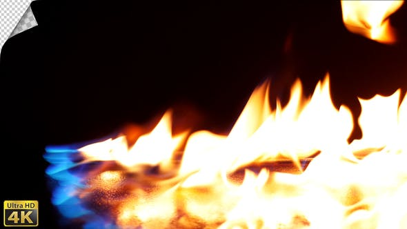 Thumbnail for Realistic Fire Line in Slow Motion - Alpha Channel v.3