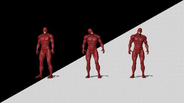Thumbnail for Superhero With Red Suit