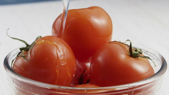 Thumbnail for of Washing Tomatoes in Bowl