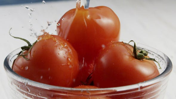 Thumbnail for Washing Tomatoes in Bowl