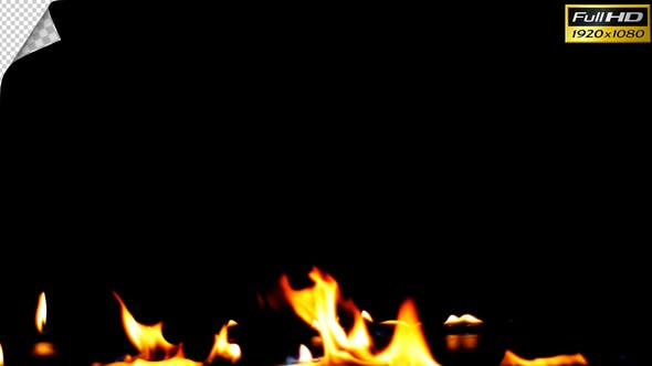 Thumbnail for Realistic Fire Line in Super Slow Motion - Alpha Channel v.11