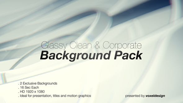 Glassy Ultra Clean Backdrop Loops - 2 Pack