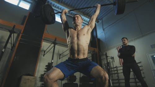 Sportsman Doing Powerlifting Exercise