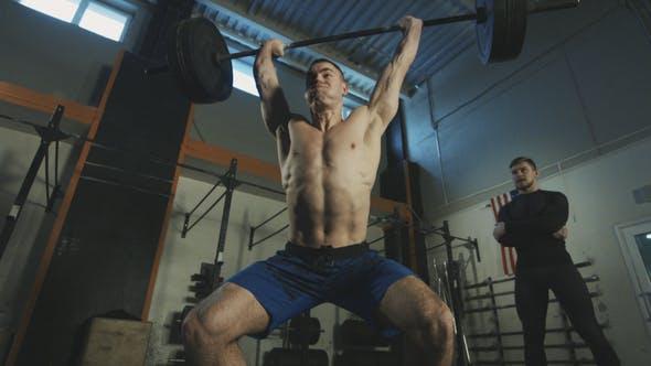 Thumbnail for Sportsman Doing Powerlifting Exercise