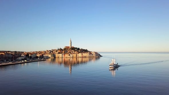 Thumbnail for Aerial View of Rovinj, Istria, Croatia.