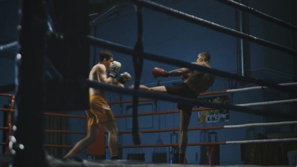 Thumbnail for Men Practicing Box on Ring