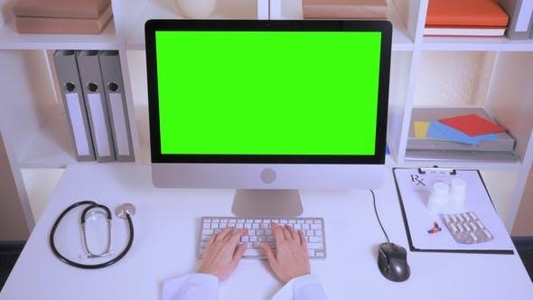 Cover Image for Nurse Hands Entering Data on Laptop