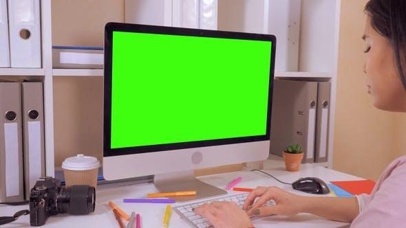 Thumbnail for Designer Entering Data on Pc