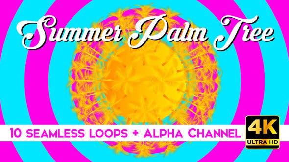 Thumbnail for Summer Palm Tree Vj Loops