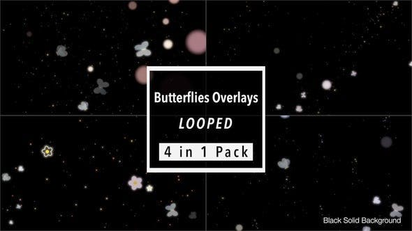 Thumbnail for Butterflies Overlays Pack