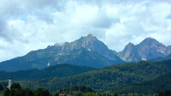 Thumbnail for Beautiful Natural Landscape of the Alps Forggensee and Schwangau, Germany, Bavaria