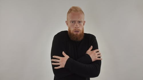 Red-haired Bearded Guy Freezes