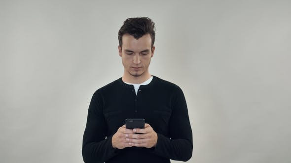 Thumbnail for Male Texting or Surfing Internet