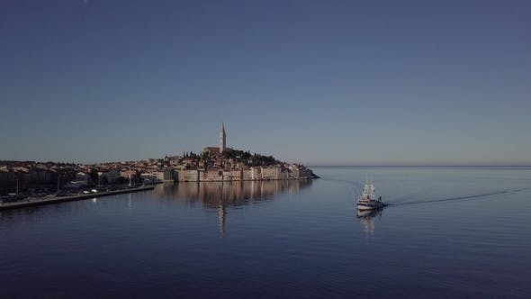Thumbnail for Aerial View of Rovinj, Istria, Croatia