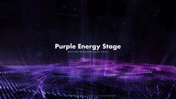 Thumbnail for Purple Energy Stage Backgrounds Pack
