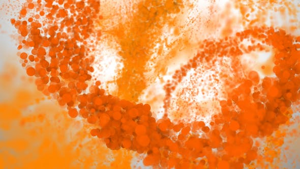 Thumbnail for 4K Orange Spiral Particle Stream Seamless Loop