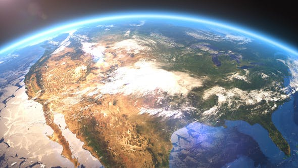 Thumbnail for 4K Earth Close Up North America