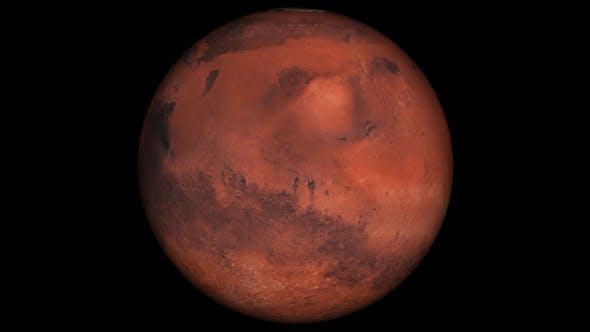 4K Mars Spinning Loop