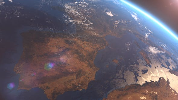 Cover Image for 4K Earth Close Up Europe
