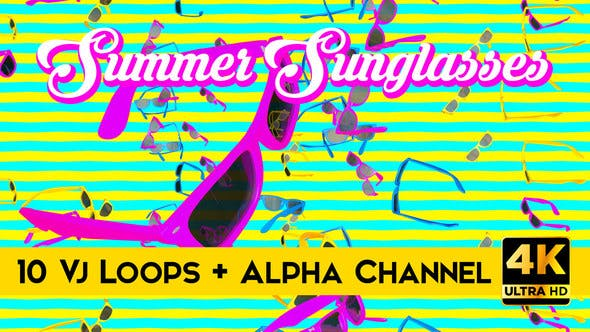Thumbnail for Summer Sunglasses Vj Loops