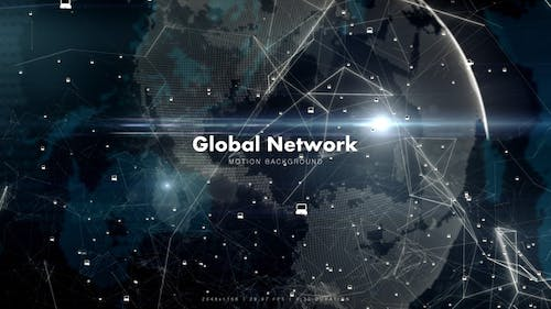 Global Network with Laptops