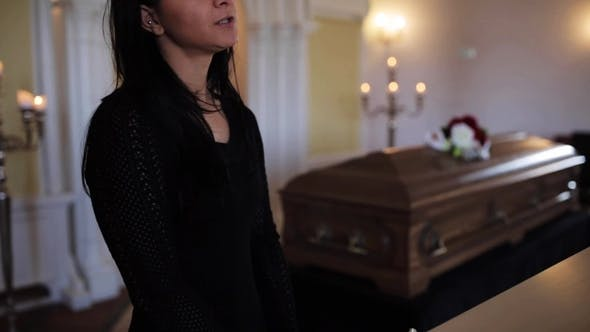Thumbnail for Woman Makes Speech at Funeral in Orthodox Church