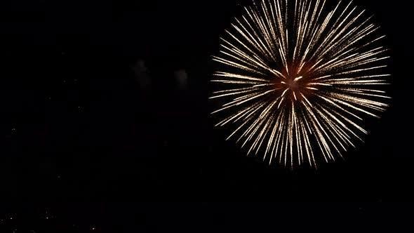 New Year celebration, fireworks