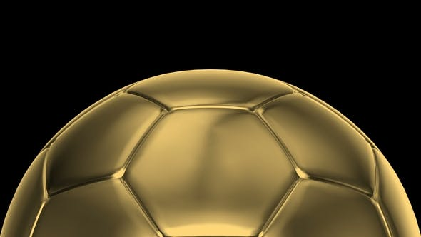 Thumbnail for Gold Soccer Balls Rotating on the Axes 360 Degree
