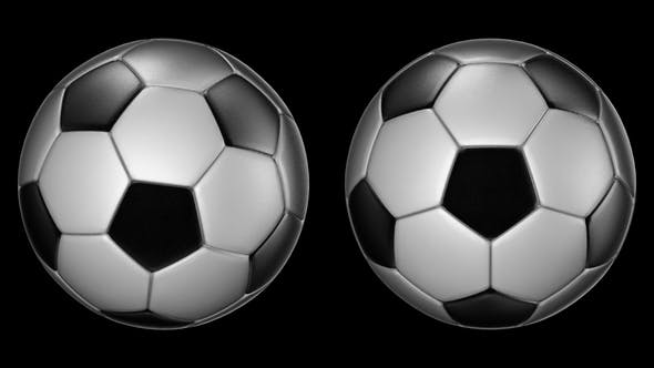Thumbnail for Soccer Balls Rotating on the Axes 360 Degree