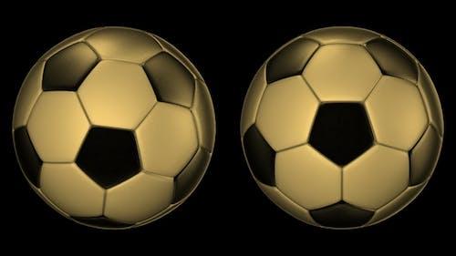 Metall Soccer Balls Rotating on the Axes 360 Degree